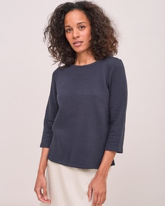 Boatneck Sweater Navy Newhouse
