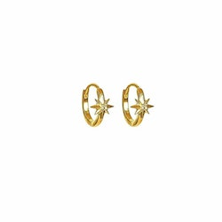 North Star Hoop Earrings Gold Syster P