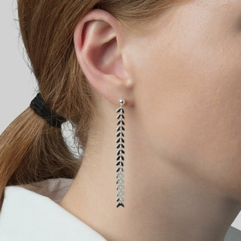 Layers Olivia Earring Silver Syster P