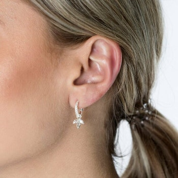 Miss Diamond Earring Silver White Topaz Syster P