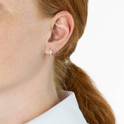 North Star Hoop Earrings Silver Syster P