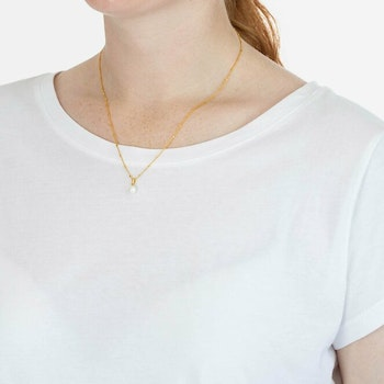 Treasure Single Pearl Necklace Gold Syster P