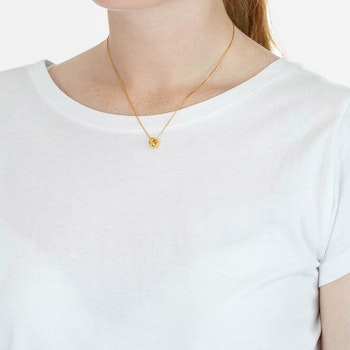 Bolded Wavy Necklace Shiny Gold Syster P