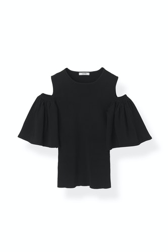 Evangel Top Black Ganni