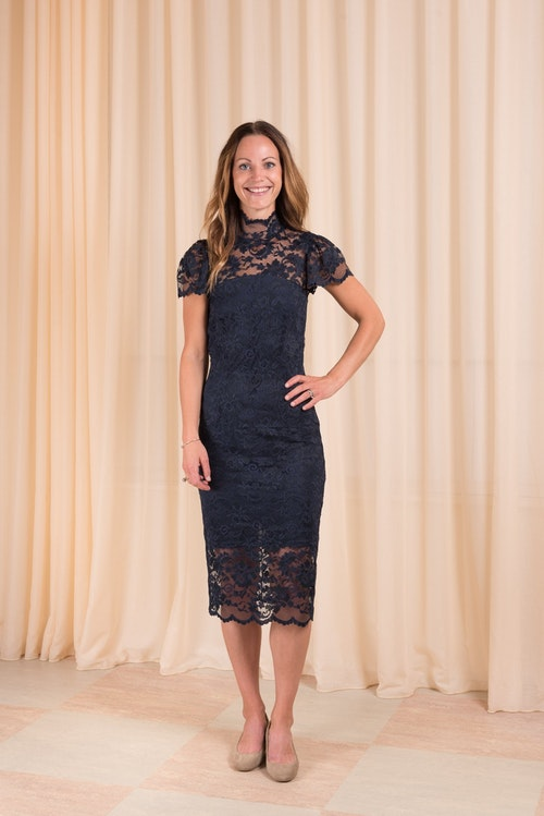 Flynn Lace Dress Ganni