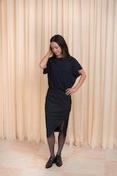 Whitney Skirt Navy Pin Stripe Twist & Tango