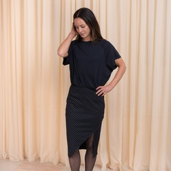 Whitney Skirt Navy Pin Stripe Twist & Tango