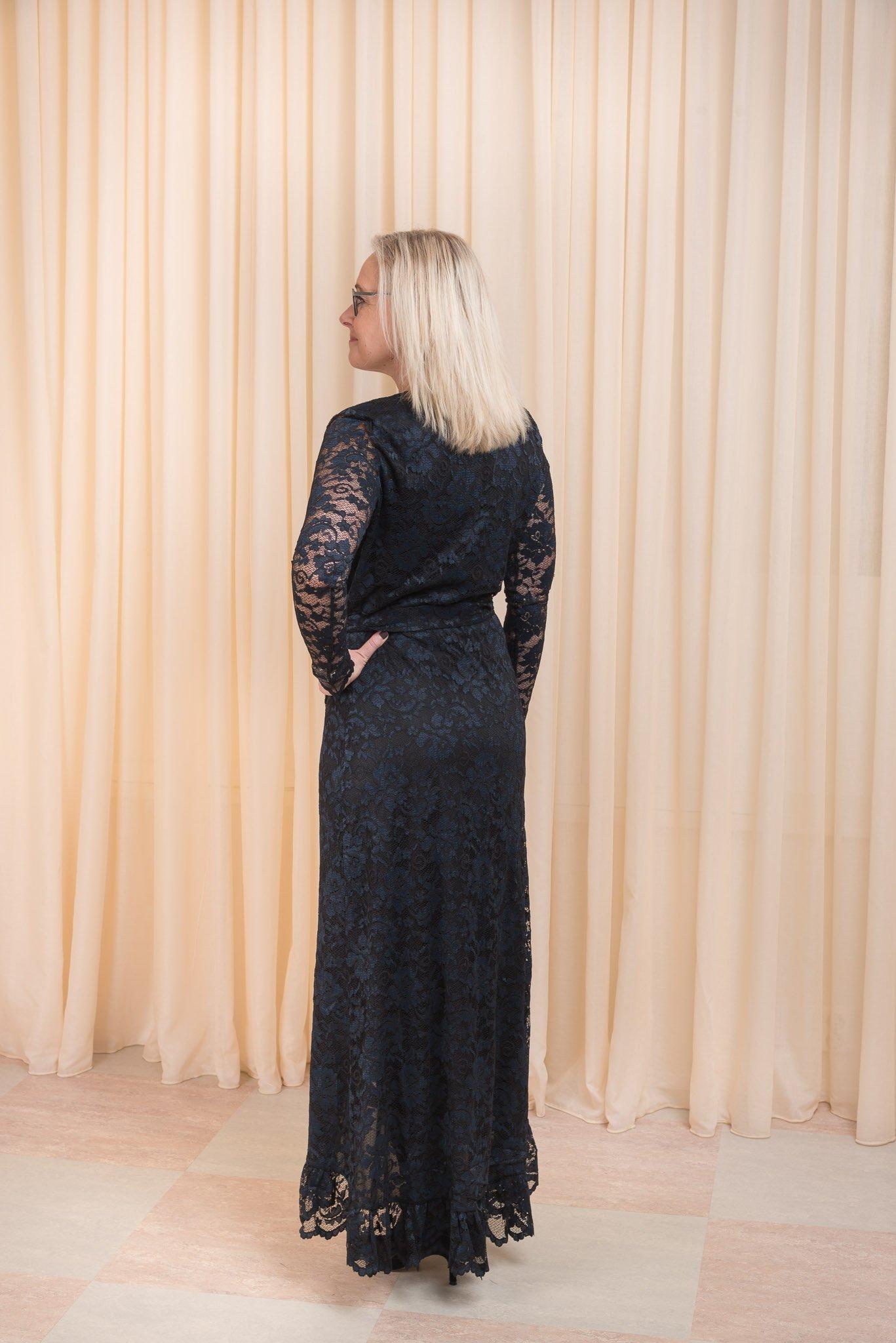 Flynn Lace Wrap Dress Ganni
