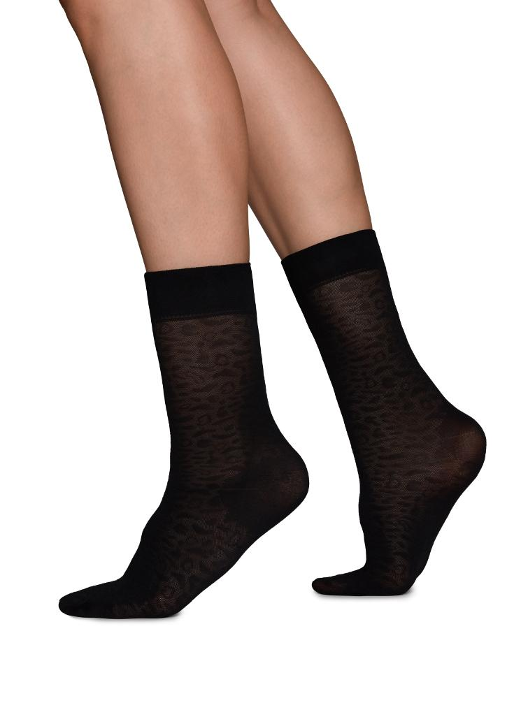 Emma Leopard Sock Swedish Stockings