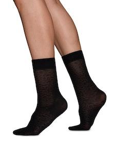 Emma Leopard Sock Swedish Stockings