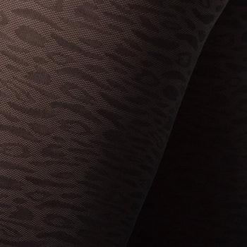 Emma Leopard Brown Swedish Stockings