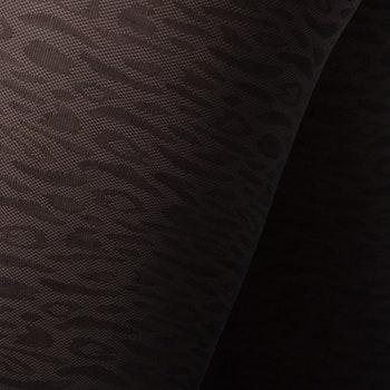 Emma Leopard Black Swedish Stockings