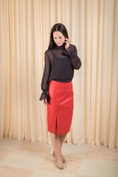 Beate Leather Skirt Just Female