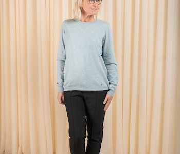 Nadia O-neck Sweater Soft Blue Melange Twist & Tango
