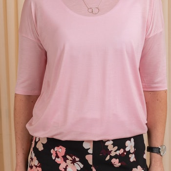 Elbow Sleeve Swing Top Rose Bud Filippa K