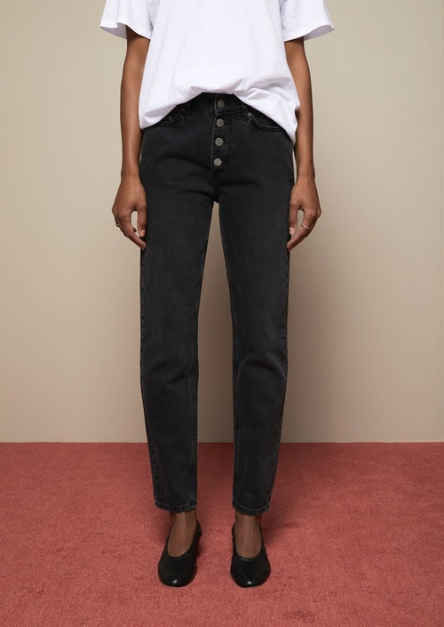 Tea Button Jeans Grey Wash Twist & Tango