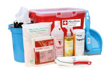Akutbox Saneringskit för kroppsvätskor