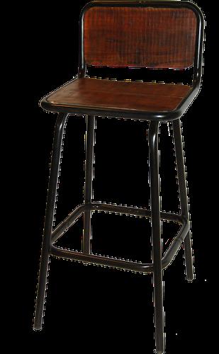 Barstol med träsits