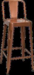 Borstad koppar barstol