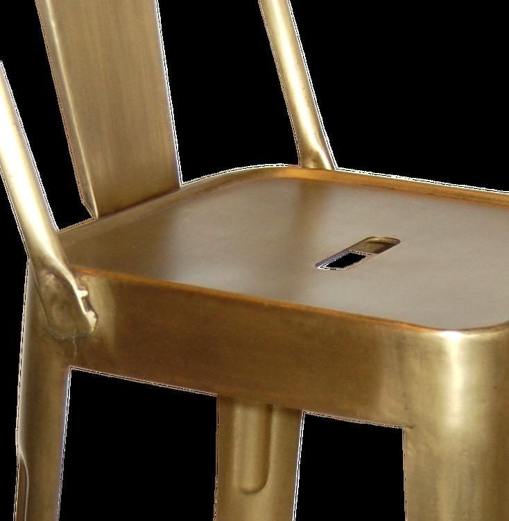 Borstad mässing barstol