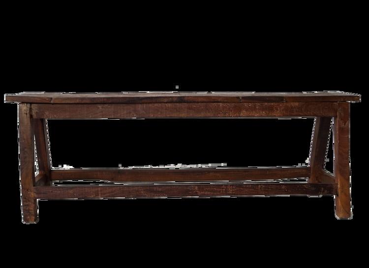 Klassisk träbänk