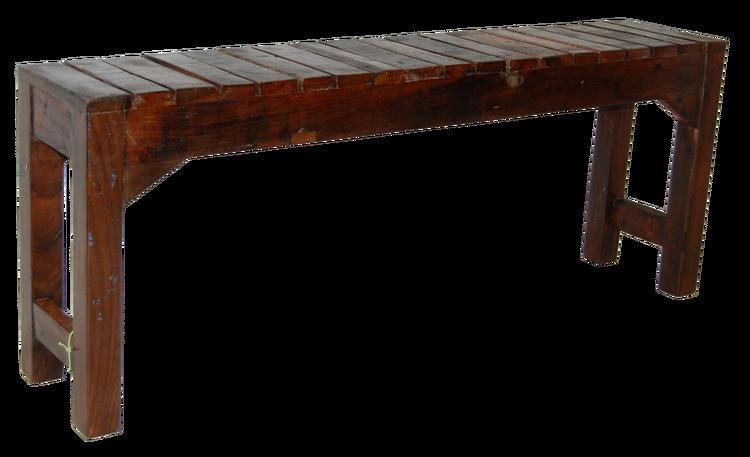 Mörkbrun gammal träbänk