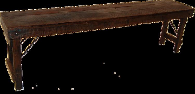Mörkbrun recycling träbänk