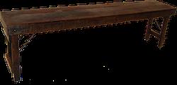 Mustig träbänk