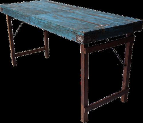 Blått vintage bord