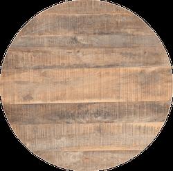 Rund bordskiva trä