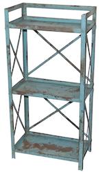 Mintblå vintage hylla