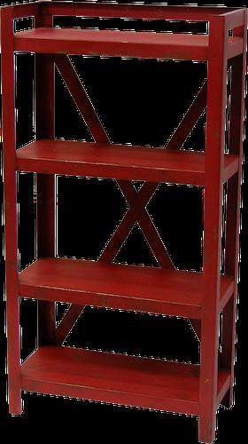 Röd vintage hylla