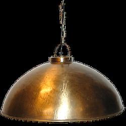 borstad mässing taklampa