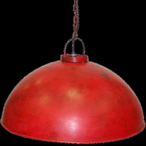 Röd fabriks taklampa