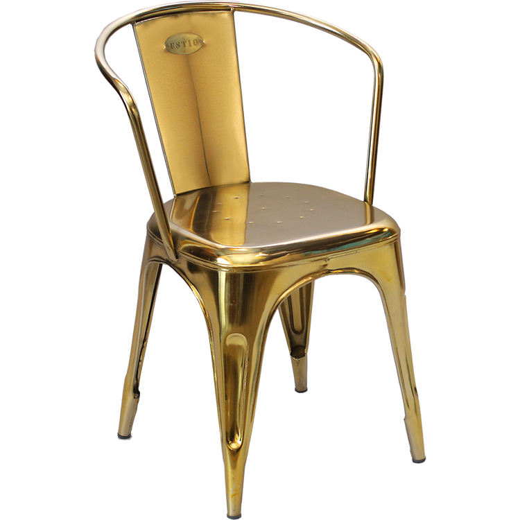 Guld plåtstol