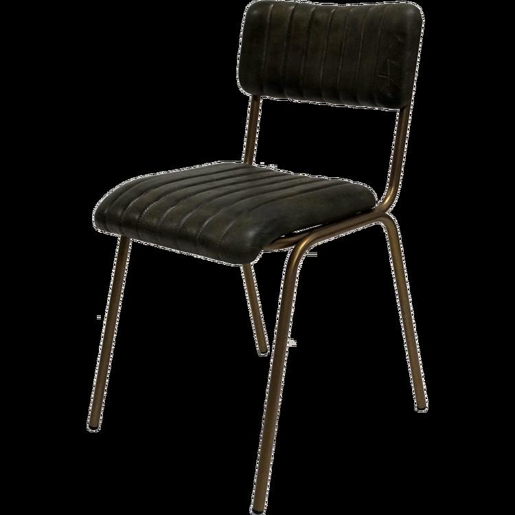 Mörkgrön vintage stol