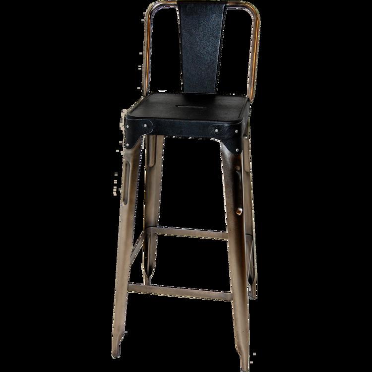 Svart läder sits barstol