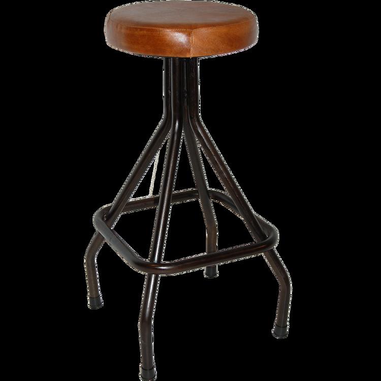 Svart/brun vintage barstol
