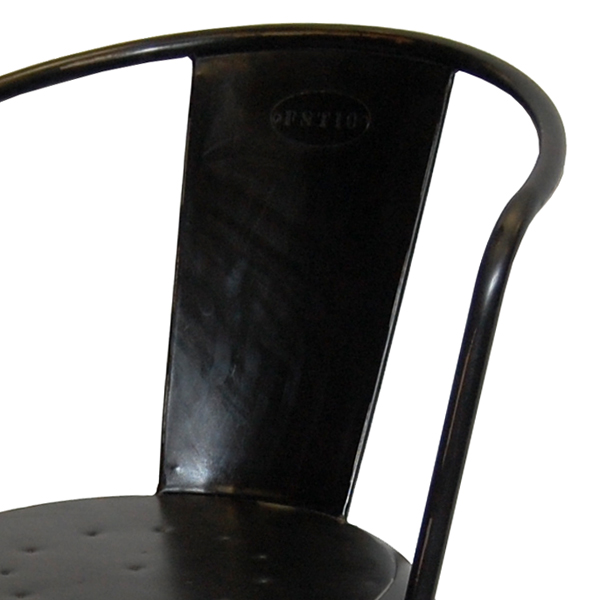 Plåtstol - borstad svart