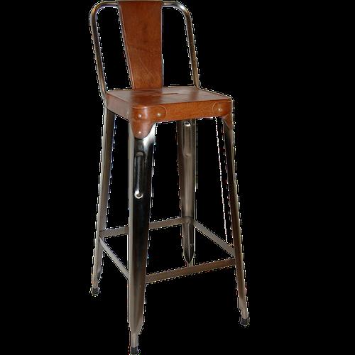 Brun läder sits barstol