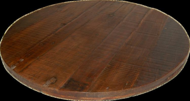 Mörk rund bordsskiva