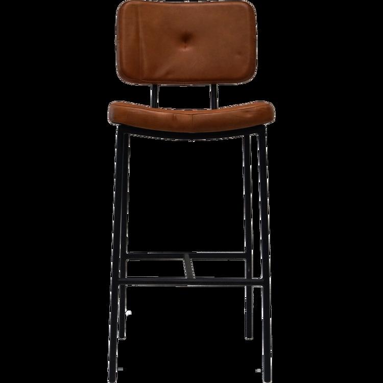 Brun vintage barstol