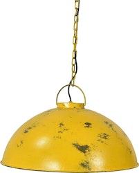 Gul vintage taklampa