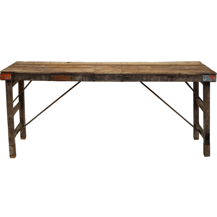 Brunt patina bord