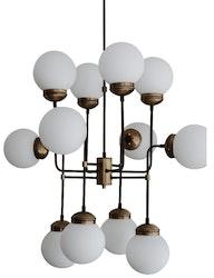 Hydro taklampa 12 ljuskällor vitglas