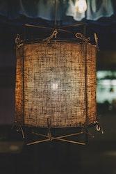 Malibu lampa Naturfärgat linne