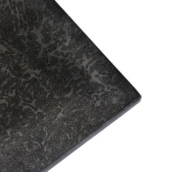Mörk mönstrad bordsskiva
