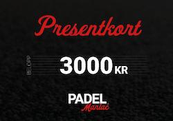 Presentkort - 3000 kr