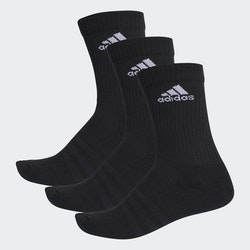 ADIDAS - 3-STRIPES PERFORMANCE STRUMPOR SVARTA 3 PACK