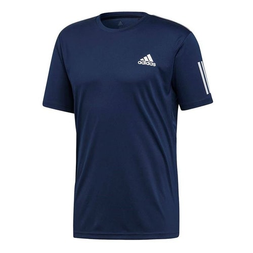ADIDAS - CLUB 3 STRIPES TEE M BLÅ